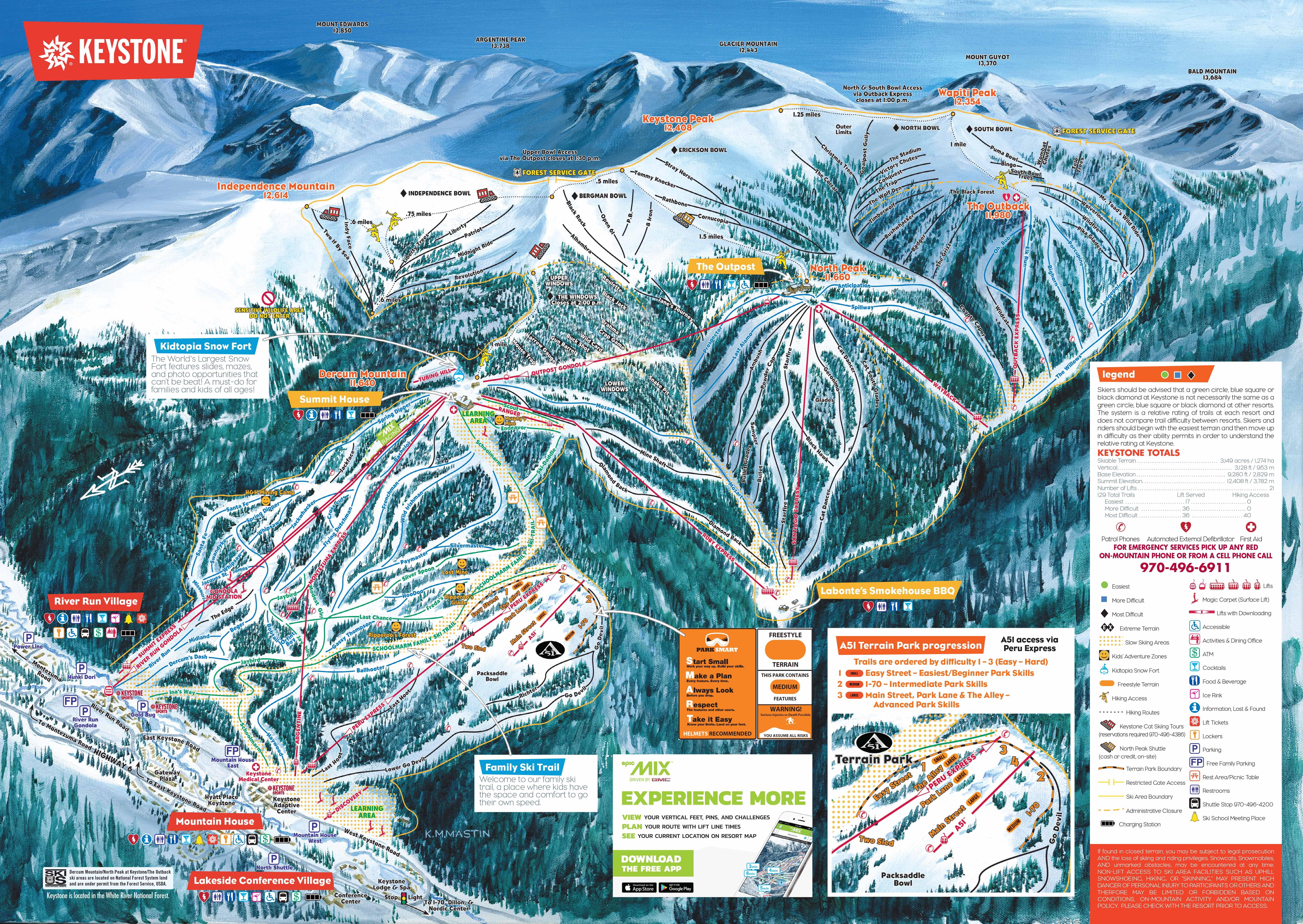 19 20 keystone trail map